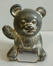 Vintage Godinger Mama Baby Bear Coin Bank Metal Silver Tarnish Resistant Money