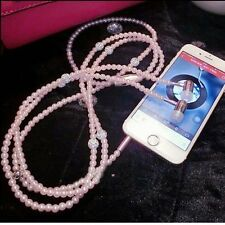 Bling Pearl Necklace Earphones In-ear With Mic Hi-Fi Wired Stereo Fashion Design
