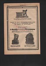 PIRMASENS, Werbung 1916, J. Sandt Maschinen-Fabrik Stanzmaschinen