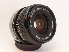 Excellent++: CANON FD 28mm F2.8 S.C. MF SLR Wideangle Prime Lens from JAPAN #090