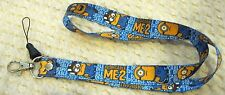 Disney Despicable Me Minions Blue Lanyard/Landyard ID Holder Keychain-New!