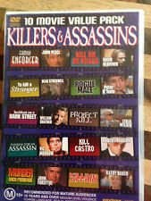 10 MOVIE PACK - KILLERS & ASSASSINS - 4 discs  * USED DVD *(E)