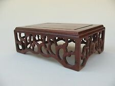 old Estate Chinese bonsai ikebana TABLE DISPLAY STAND carved hardwood furniture