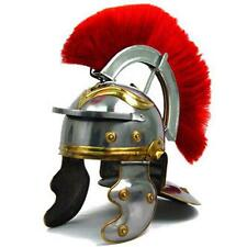 Roman IMPERIAL Gallic Centurion Helmet Italic Red Plume 18ga STEEL General