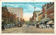 "Chattanooga TN Market Street ""DIXIE HIGHWAY"" Street Cars Stores Signs 1929"