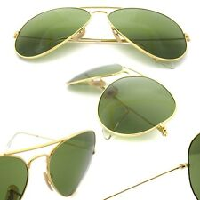 RETRO GREEN GOLD AVIATOR SUNGLASSES UV400 DESIGNER MENS LADIES UNISEX SHADES
