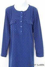 GAP Black Blue Polkadot Shirt Shift Dress Long Sleeves Mandarin Collar Large