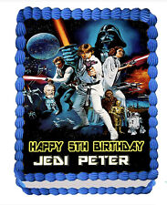 STAR WARS  EDIBLE  ICING  CAKE TOPPER PARTY IMAGE FROSTING SHEET