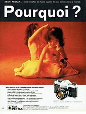 PUBLICITE ADVERTISING 0117  1971  Asahi Pentax appareil photo Spotmatic super Ta