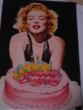 "Vintage 1981 "" Happy Birthday to You "" Greeting Card PAPER MOON sexy Marilyn"