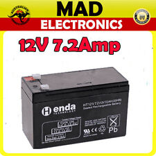 12V 7A 7.2Ah Sealed Lead Acid (SLA) Battery Rechargeable Replace Home Alarm Sy