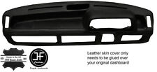 BLACK STITCHING DASH DASHBOARD LEATHER COVER FITS FORD FIESTA MK1 XR2