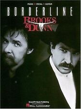 Brooks and Dunn Borderline Piano Vocal Guitar-ExLibrary