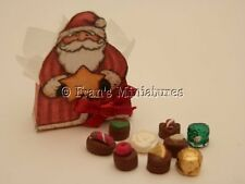 Dolls house food: Handmade gift box of Christmas chocolates  -By Fran