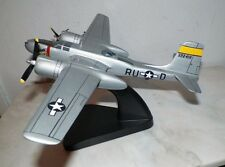 TMC PACIFIC AIRCRAFT WOODEN  WW2MILITARY DESK TOP MODEL AIRPLANE LIGHT GRAY USED