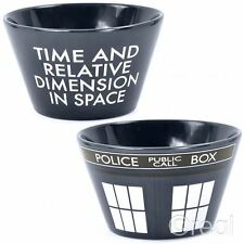 New New Doctor Who TARDIS Ceramic Cereal Bowl Breakfast Retro Home BBC Official