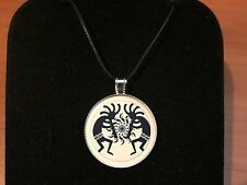 ADJUSTABLE NECKLACE WITH KOKOPELLI CAP PENDANT A7