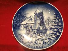 Bareuther Waldsassen Weihnachtsteller Christmas 1974 Kirche im Schwarzwald