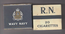 WW2 SET OF 2 USEABLE BRITISH ROYAL NAVY & WAVY NAVY CIGARETTE PACKETS (REPRO)