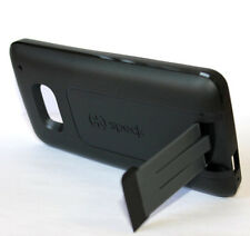 For HTC ONE M7 - SPECK SmartFlex Kickstand Hard & Soft Rubber Skin Case Black