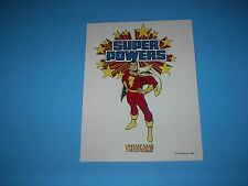 DC COMICS SUPER POWERS SHAZAM CAPTAIN MARVEL STYLE GUIDE PIN UP