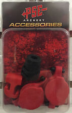 NEW PSE ARCHERY RED COLORED RUBBER SET W/ SHOCK MODZ DAMPNER KIT FOR PSE BOW
