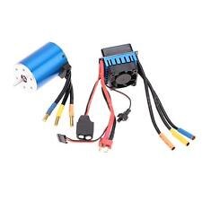 3650 3100KV/4P Sensorless Brushless Motor with 60A Brushless ESC for 1/10 RC Car