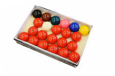 "Premium 2 1/16"" Snooker Ball Set - 22 Piece Snooker Table Ball Set FREE SHIPPING"