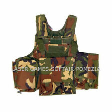 GILET TATTICO TACTICAL VEST CIRAS WOODLAND  RP-1026WOOD PER SOFTAIR E MILITARI