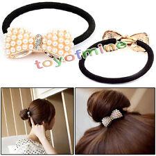 Version Mode de Pearl bande de cheveux arc / corde de cheveux