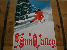 Vintage 1960s *SUN VALLEY* SKI Poster POWDER - MINT CONDITION