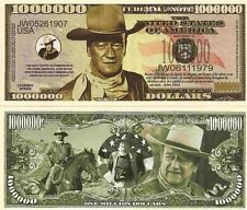 John Wayne The Duke Cowboy Million Dollar Bills x 4 American Western Film Actor