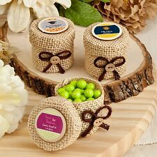 60 Personalized Burlap Favor Boxes Wedding Shower Party Gift Favors