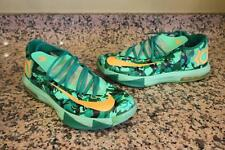Nike KD 6 VI Easter Camo Lucid Green/Atomic Mango Kevin Durant 599424-303 SIZE 8