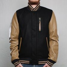 $450 NIKE XL EXTRA LARGE DESTROYER LEATHER SLEEVES WOOL BLEND JACKET 411200-011