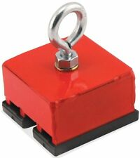 """Heavy-Duty Retrieving and Holding Magnet, 2"""" Length, 2"""" Width, 1"""" Height with Ey"""