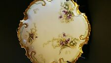 Vintage Limoges France Coronet Star Plate 1906-1913 Lge Gold Gilt Hand Painted