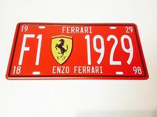 FERRARI ITALIAN CAR   SPORTS LICENCE PLATE/Wall Decor Vintage Sign Tin Plaque