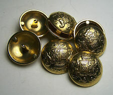 Pack of 8 23mm Royal Netherlands Inspired Gold Metal Military style Button 2051