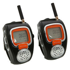 New 6 Kilometers 1.5W 3.7V Wrist Watch Style Interphone Walkie Talkie