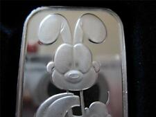 1-OZ PURE SILVER.999 ART BAR TO CUTE GARFIELD'S {ODIE} PAWS ENGRAVEABLE + GOLD
