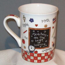 Brownlow TEACHER'S HEART 2005 Ceramic Porcelain Coffee Mug Cup