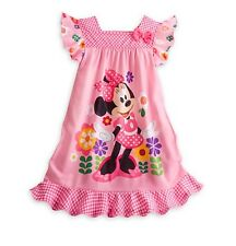 Disney Store Minnie Mouse Clubhouse NightGown Girls Pajamas PJ's Size Small 5/6