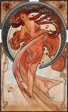 Alphonse Alfons Mucha Art Nouveau Dance Deco Print Picture 40.6x27.9cm inch A3