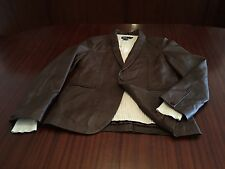 New Designer Couture 100% Lamb Super Soft Leather Jacket Blazer Men's Brown M