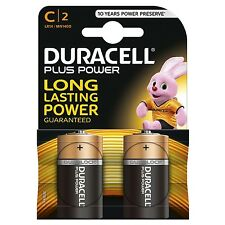 12 x Duracell C Size Plus Power Alkaline Batteries (LR14, MN1400, MX1400, BABY)