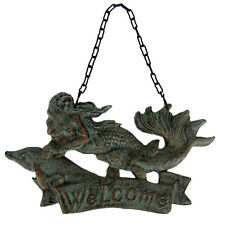 Cast Iron Metal Mermaid Welcome Sign Beach Bar/Tavern/Pub Wall/Front Door Decor