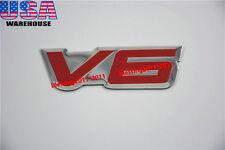 1X FENDER HOOD HOT ROD RAT V6 EMBLEM V6 6 CYLINDER ENGINE ALUMINUM EMBLEM BADGE