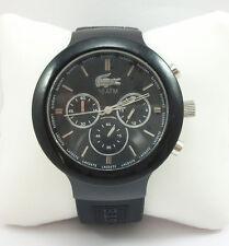 Lacoste L!VE Chronograph Borneo Black Silicone Mens Watch 2010651 $205