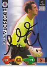 RANGERS ALLAN McGREGOR SIGNED CHAMPIONS LEAGUE SUPER STRIKES CARD+COA *SALE*